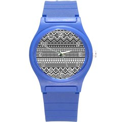 Aztec Pattern Design(1) Round Plastic Sport Watch (s)