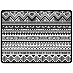 Aztec Pattern Design(1) Double Sided Fleece Blanket (large)  by BangZart