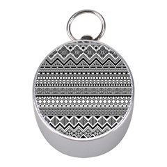 Aztec Pattern Design(1) Mini Silver Compasses by BangZart