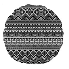 Aztec Pattern Design(1) Large 18  Premium Flano Round Cushions by BangZart
