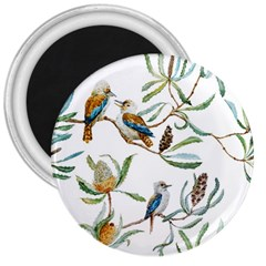 Australian Kookaburra Bird Pattern 3  Magnets