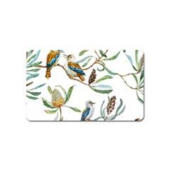Australian Kookaburra Bird Pattern Magnet (name Card)