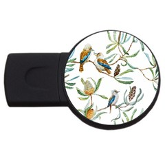 Australian Kookaburra Bird Pattern Usb Flash Drive Round (4 Gb)