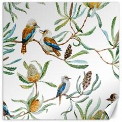 Australian Kookaburra Bird Pattern Canvas 12  X 12   by BangZart