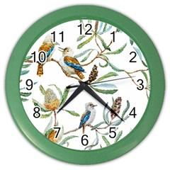 Australian Kookaburra Bird Pattern Color Wall Clocks by BangZart