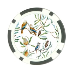 Australian Kookaburra Bird Pattern Poker Chip Card Guard (10 Pack)