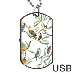 Australian Kookaburra Bird Pattern Dog Tag Usb Flash (two Sides) by BangZart