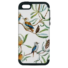 Australian Kookaburra Bird Pattern Apple Iphone 5 Hardshell Case (pc+silicone)