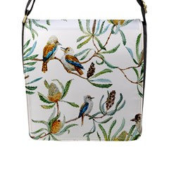 Australian Kookaburra Bird Pattern Flap Messenger Bag (l)  by BangZart