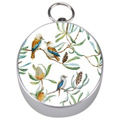 Australian Kookaburra Bird Pattern Silver Compasses by BangZart