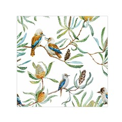 Australian Kookaburra Bird Pattern Small Satin Scarf (square)