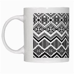 Aztec Design  Pattern White Mugs by BangZart
