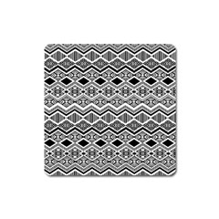 Aztec Design  Pattern Square Magnet