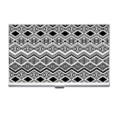 Aztec Design  Pattern Business Card Holders by BangZart