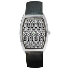 Aztec Design  Pattern Barrel Style Metal Watch by BangZart