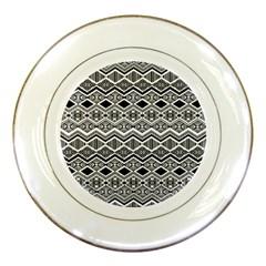 Aztec Design  Pattern Porcelain Plates by BangZart