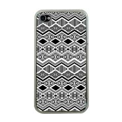 Aztec Design  Pattern Apple Iphone 4 Case (clear) by BangZart