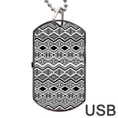 Aztec Design  Pattern Dog Tag Usb Flash (one Side) by BangZart