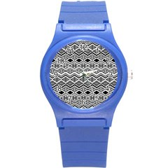 Aztec Design  Pattern Round Plastic Sport Watch (s) by BangZart