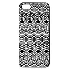 Aztec Design  Pattern Apple Iphone 5 Seamless Case (black) by BangZart