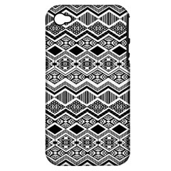 Aztec Design  Pattern Apple Iphone 4/4s Hardshell Case (pc+silicone)