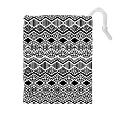 Aztec Design  Pattern Drawstring Pouches (extra Large)