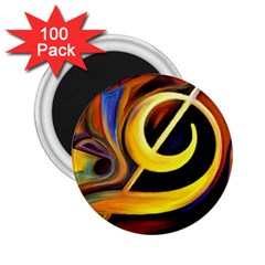 Art Oil Picture Music Nota 2 25  Magnets (100 Pack)  by BangZart