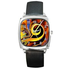 Art Oil Picture Music Nota Square Metal Watch by BangZart