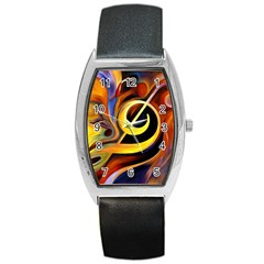 Art Oil Picture Music Nota Barrel Style Metal Watch by BangZart