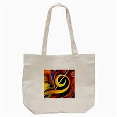 Art Oil Picture Music Nota Tote Bag (cream) by BangZart