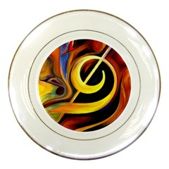 Art Oil Picture Music Nota Porcelain Plates by BangZart