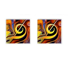 Art Oil Picture Music Nota Cufflinks (square) by BangZart