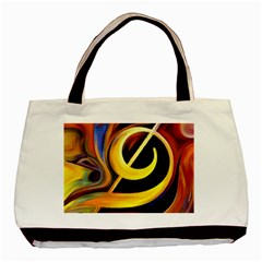 Art Oil Picture Music Nota Basic Tote Bag