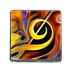 Art Oil Picture Music Nota Memory Card Reader (square)