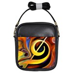 Art Oil Picture Music Nota Girls Sling Bags Front