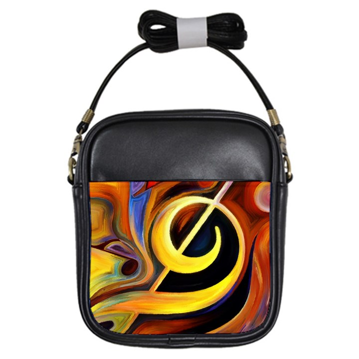 Art Oil Picture Music Nota Girls Sling Bags