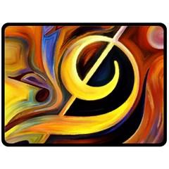 Art Oil Picture Music Nota Fleece Blanket (large)