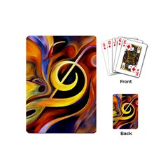 Art Oil Picture Music Nota Playing Cards (mini)