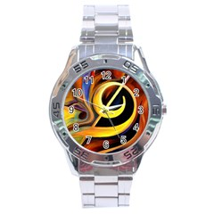 Art Oil Picture Music Nota Stainless Steel Analogue Watch
