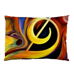 Art Oil Picture Music Nota Pillow Case (two Sides) by BangZart