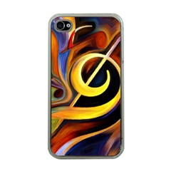 Art Oil Picture Music Nota Apple Iphone 4 Case (clear)