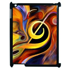 Art Oil Picture Music Nota Apple Ipad 2 Case (black) by BangZart