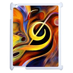 Art Oil Picture Music Nota Apple Ipad 2 Case (white)