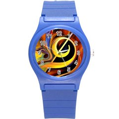 Art Oil Picture Music Nota Round Plastic Sport Watch (s) by BangZart