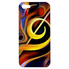 Art Oil Picture Music Nota Apple Iphone 5 Hardshell Case by BangZart