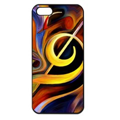 Art Oil Picture Music Nota Apple Iphone 5 Seamless Case (black)