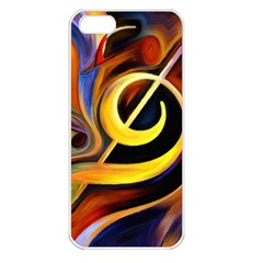 Art Oil Picture Music Nota Apple Iphone 5 Seamless Case (white) by BangZart