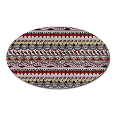 Aztec Pattern Art Oval Magnet by BangZart