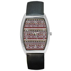 Aztec Pattern Art Barrel Style Metal Watch by BangZart