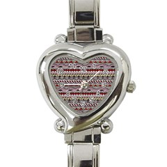 Aztec Pattern Art Heart Italian Charm Watch by BangZart